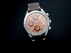 Lot #5617 – Rare Omega Speedmaster Date 40th Anniversary Grand Prix Watch 3511.60 Omega Chronograph