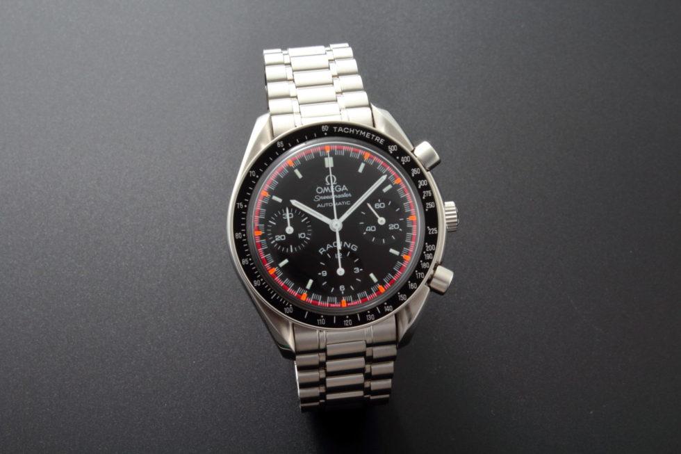 Lot #5621 – Omega Speedmaster Racing Schumacher Watch 3518.50.00 Omega Limited Edition Omega Speedmaster