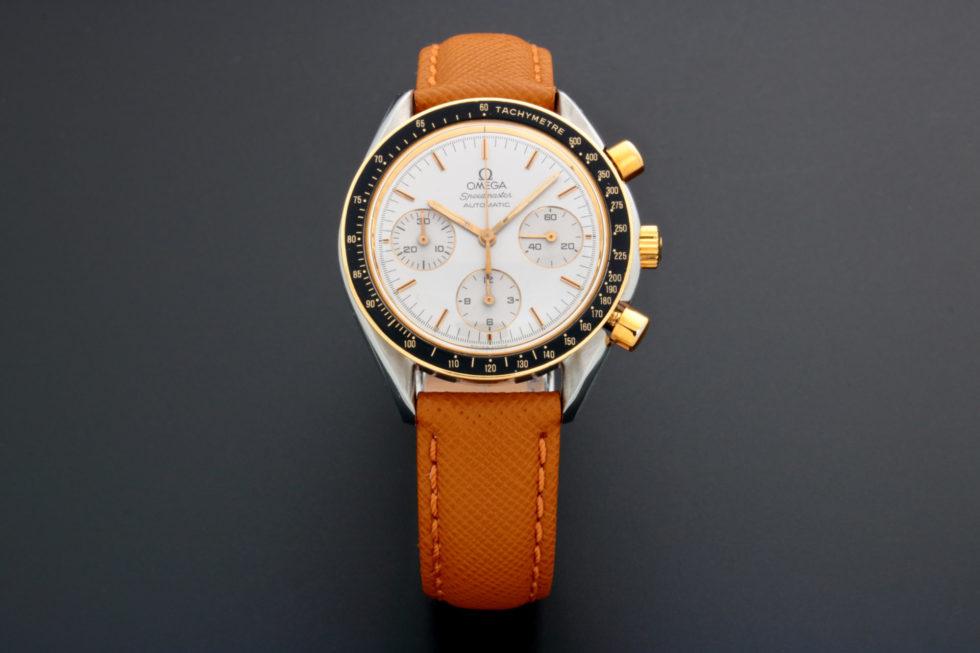 Lot #5623 – Rare Omega Speedmaster Tutone Silver Dial Watch 175.0032 Omega Chronograph