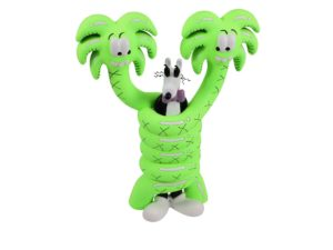 Lot #7073 – Steven Harrington Mello Gotcha Neon Green Sculpture Limited Edition Art Toys Gotcha