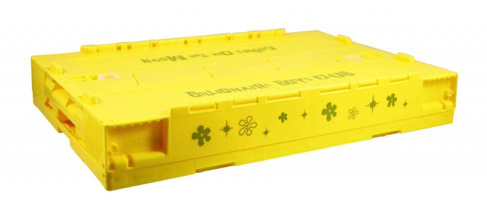 Lot #5234 – SpongeBob x BBC Storage Crate Container Yellow Rarities SpongeBob x BBC