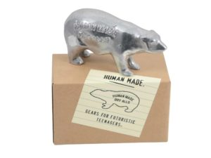 Lot #7388 – Human Made Polar Bear Aluminum Paper Weight Art Toys Human Made
