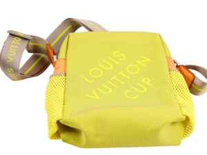 Lot #7546 – Louis Vuitton America's Cup Bag Green Neon Rarities Louis Vuitton