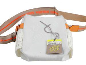 Lot #9065 – Louis Vuitton America's Cup Weatherly Cross Body Bag White Bags Louis Vuitton
