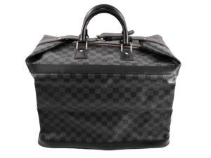 Lot #9090 – Louis Vuitton N41161 Grimaud Damier Graphite Canvas Leather Bag Louis Vuitton Louis Vuitton