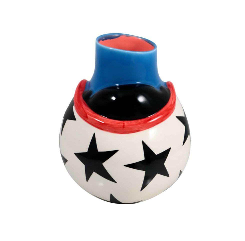 Lot #8769 – Piet Parra The Upside Down Face Vase Helmet Sculpture Rarities Piet Parra
