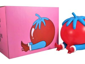 Lot #9321 – Piet Parra Give Up Tomato Sculpture Lamp x Case Studyo Art Toys Piet Parra