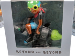 Lot #9004 – Hebru Brantley Flyboy Rocket Boy Black T-Shirt Figure Art Toys Hebru Brantley