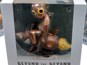 Lot #9003– Hebru Brantley Flyboy Rocket Boy Sepia Figure Art Toys Hebru Brantley
