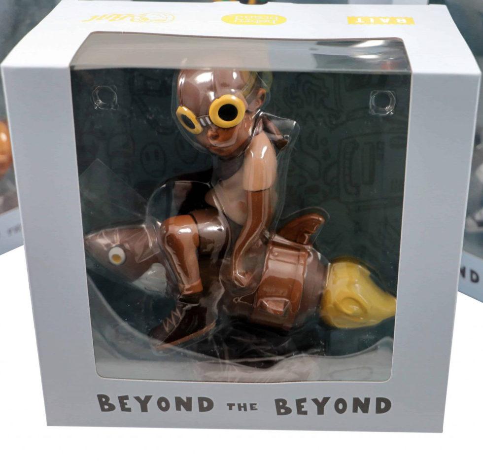 Lot #5214 – Hebru Brantley Fly Boy Rocket Sepia Figure Art Toys Hebru Brantley