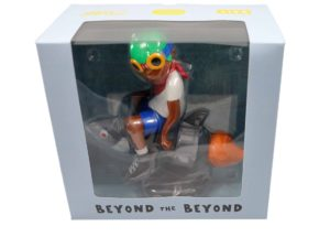 Lot #9005 – Hebru Brantley Flyboy Rocket Boy White T Shirt Vinyl Figure Art Toys Hebru Brantley