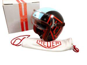 Lot #7610 – Tag Heuer Monaco McQueen Motorcycle Helmet with Visor Helmets Tag Heuer