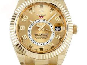 Lot #4858 – 18K Yellow Gold Rolex Sky Dweller Watch 326938 Rolex Rolex 326938
