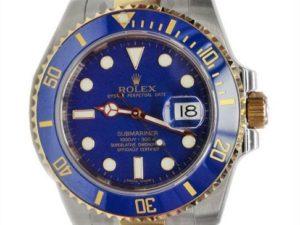 Lot #4851 – Rolex Blue Submariner Watch 116613 Tutone Rolex Rolex 116613