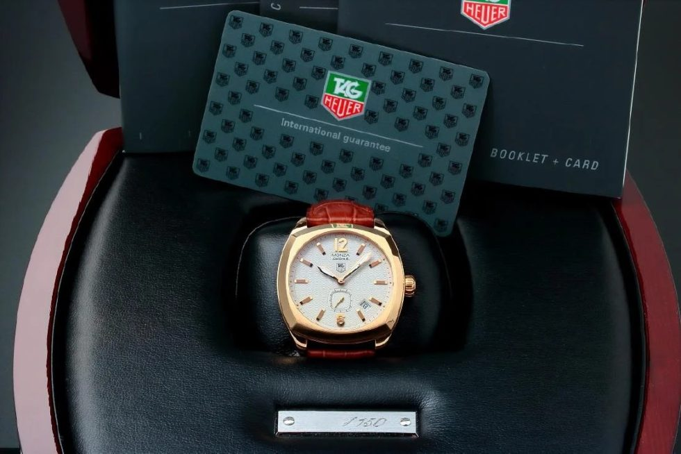 Lot #7775 – Limited 18k Rose Gold Tag Heuer Monza Watch #WR5140 Monza Limited edition