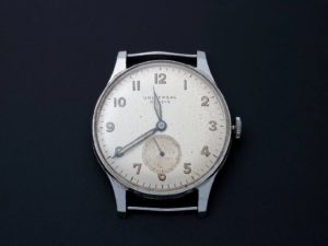 Lot #4972 – Gents Vintage Stainless Steel Universal Geneve Watch Universal Geneve Universal Geneve