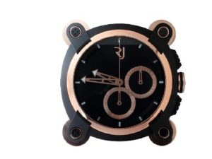 Lot #6278 – Romain Jerome Moon Invader Red Metal Wall Clock Clocks [tag]