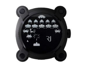 Lot #6040 – Romain Jerome Space Invaders Dealer Wall Clock Clocks Romain Jerome Space Invaders