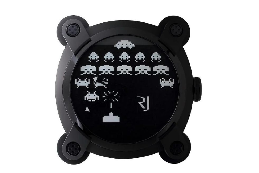 Lot #4824 – Romain Jerome Space Invaders Wall Clock Watches [tag]