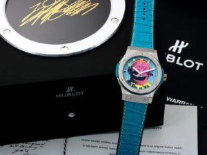 Lot #4817 – Limited Edition Hublot Fusion Yue Minjun Art Watch 542.NX.6699.LR.MYC16 Hublot Hublot 542.NX.6699.LR.MYC16