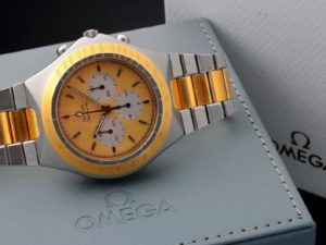 Lot #4864 – Tutone Omega Speedmaster Teutonic Watch 145.0040 Omega Omega 145-0040