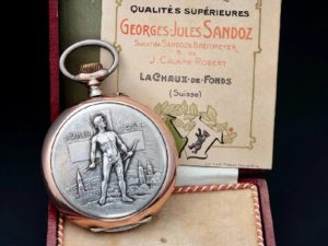 Lot #9165 – Sandoz Jaeger Le Coultre Swiss Award Relief Pocketwatch Watches [tag]