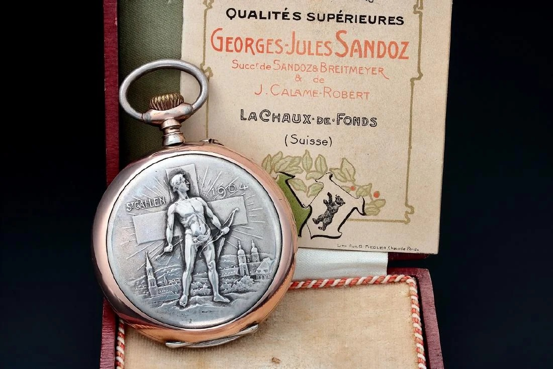 Sandoz Jaeger Le Coultre Swiss Award Pocketwatch – Baer & Bosch Auctioneers