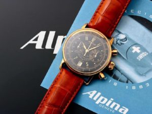Lot #6243 – 18k Yellow Gold Alpina Heritage Chronograph Watch AL-850BB3H17 Alpina Alpina AL-850BB3H17