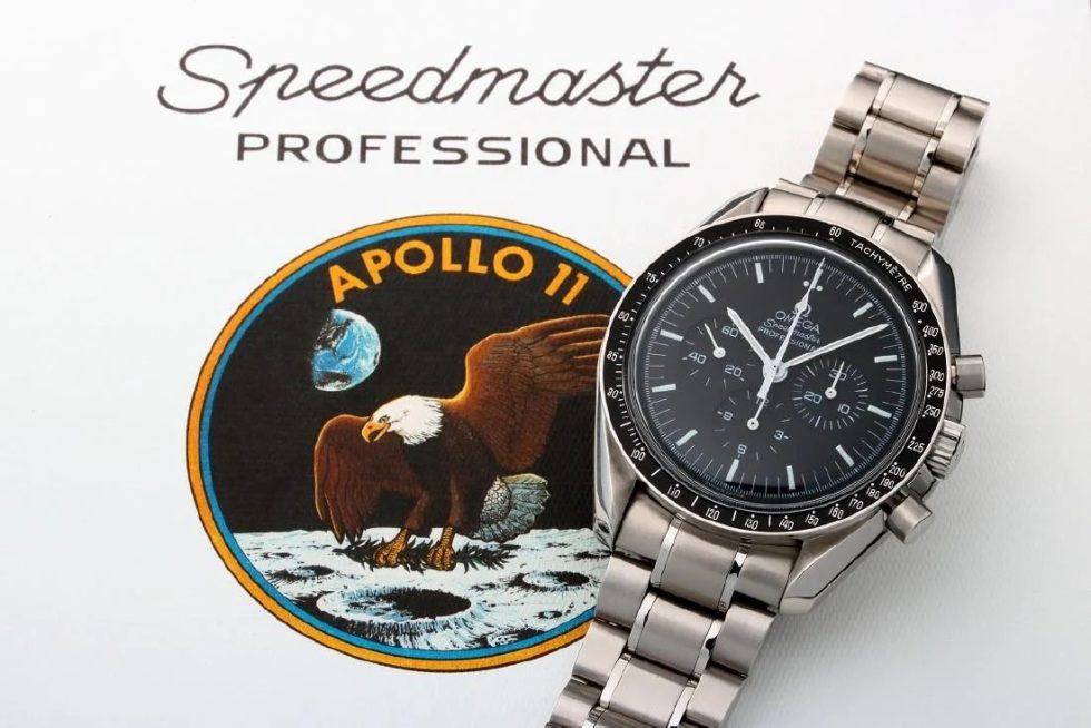 Lot #9245 – Limited Edition Omega Speedmaster Apollo 11 Moon Watch 3560.50 Omega Omega #3560.50.00