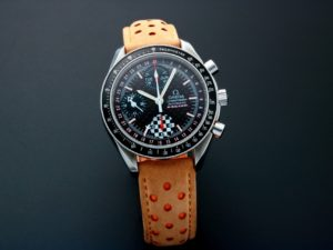Lot #5640 – Omega Speedmaster Triple Calendar Michael Schumacher Watch 3529.50 Omega Omega 3529.50.00