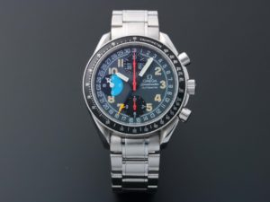 Lot #5647 – Omega Speedmaster Triple Calendar Mark 40 AM/PM Watch 3520.53 Omega Omega 3520.53.00