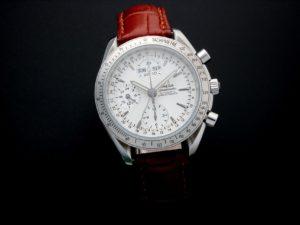 Lot #5665 – Omega Speedmaster Triple Calendar Watch 3221.30.00 Omega Omega 3221.30