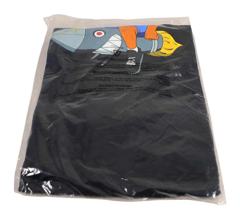 Lot #9863 – Hebru Brantley Flyboy Long Sleeve Shirt Black XXL Hebru Brantley Hebru Brantley