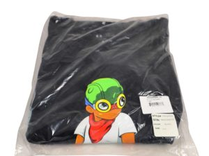 Lot #5219A – Hebru Brantley Flyboy Life Long Shirt Black 2XL Various Hebru Brantley