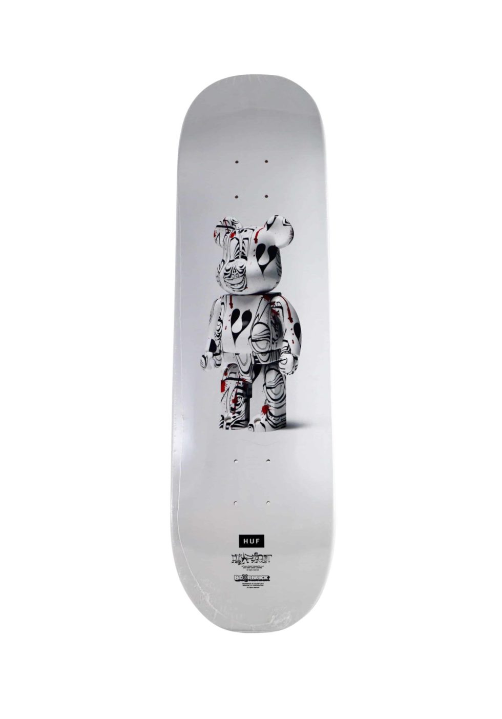 Lot #9764 – Phil Frost Bearbrick Skateboard Skate Deck Skateboard Decks Phil Frost