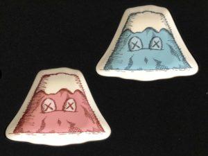 Lot #9337 – KAWS Holiday Japan Mount Fuji Plate Set of 4 Rarities KAWS Ceramic Plates
