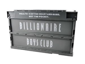 Lot #7359 – Billionaire Boys Club Crate Container Grey Billionaire Boys Club Billionaire Boys Club Storage Crate