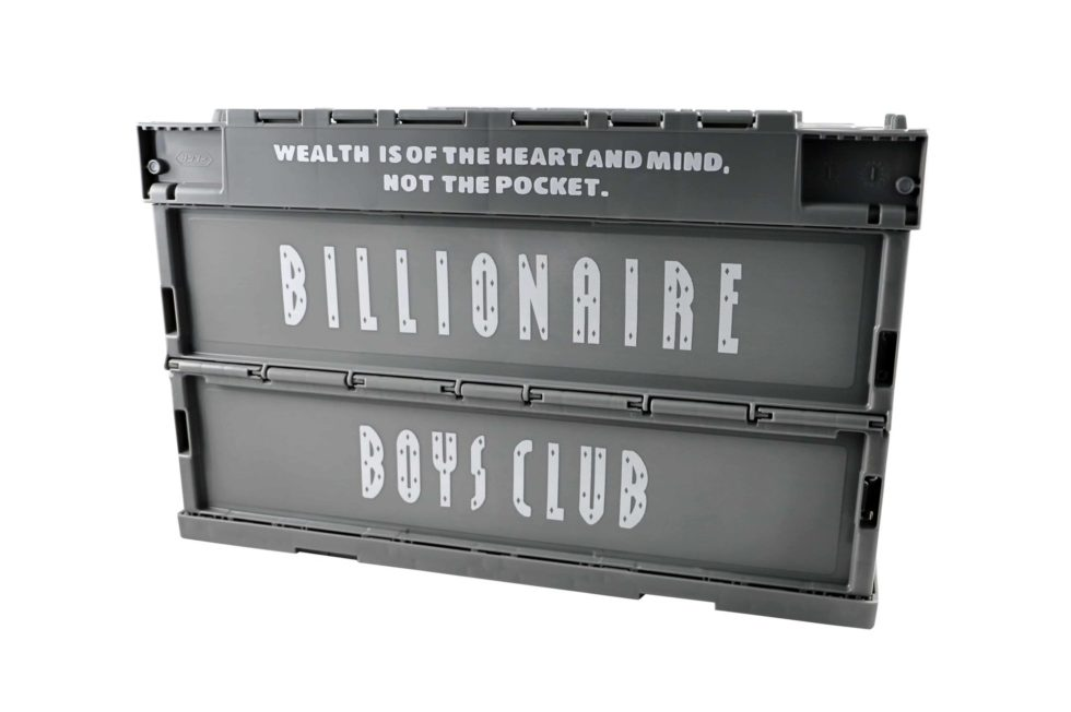 Lot #7210 – Billionaire Boys Club Crate Container Grey Art Toys Billionaire Boys Club Storage Crate