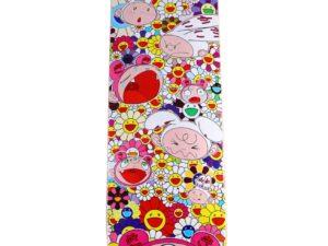 Lot #5924 – Murakami Kaikai Kiki Flower Rainbow Skateboard Deck Skateboard Decks Kaikai Kiki Skate Deck