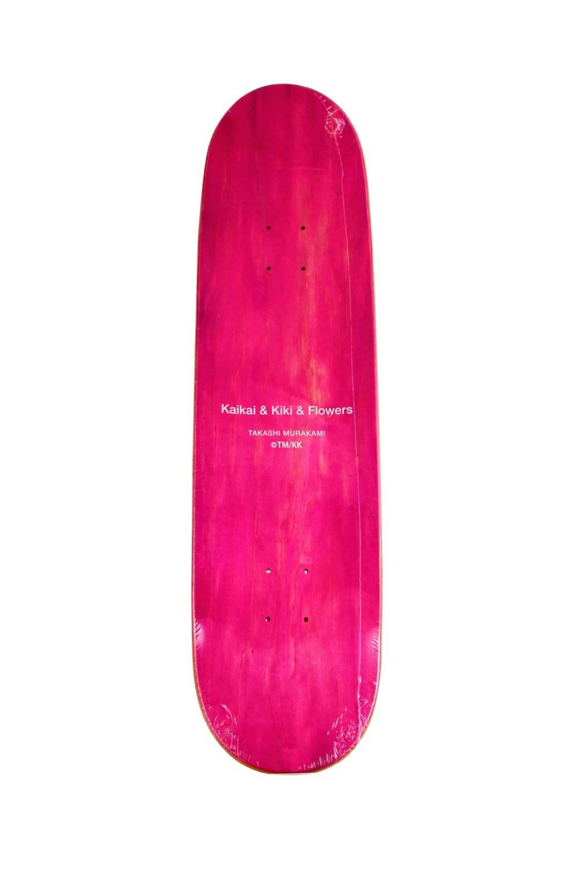 Lot #8757 – Murakami Kaikai Kiki Flower Rainbow Skateboard Deck Skateboard Decks Kaikai Kiki Skate Deck