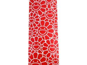 Lot #5929 – Takashi Murakami Flowers as Ohana-Chang Red Skateboard Deck Skateboard Decks Murakami Flowers as Ohana-Chang