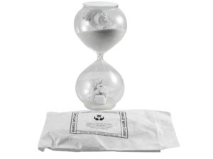 Lot #8659 – Daniel Arsham Hourglass Sculpture Limited Edition Art Toys Daniel Arsham Hourglass
