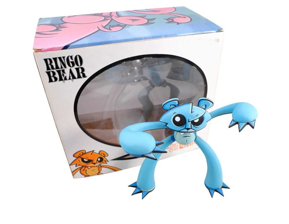 Lot #8706 – Joe Ledbetter Ringo Bear Polar Vinyl Figure Limited Edition Art Toys Joe Ledbetter