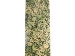 Lot #10611 – Takashi Murakami Skulls Green Camo Skateboard Skate Deck Skateboard Decks [tag]