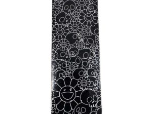 Lot #10592 – Takashi Murakami Flowers Skulls Black Skateboard Skate Deck Skateboard Decks [tag]
