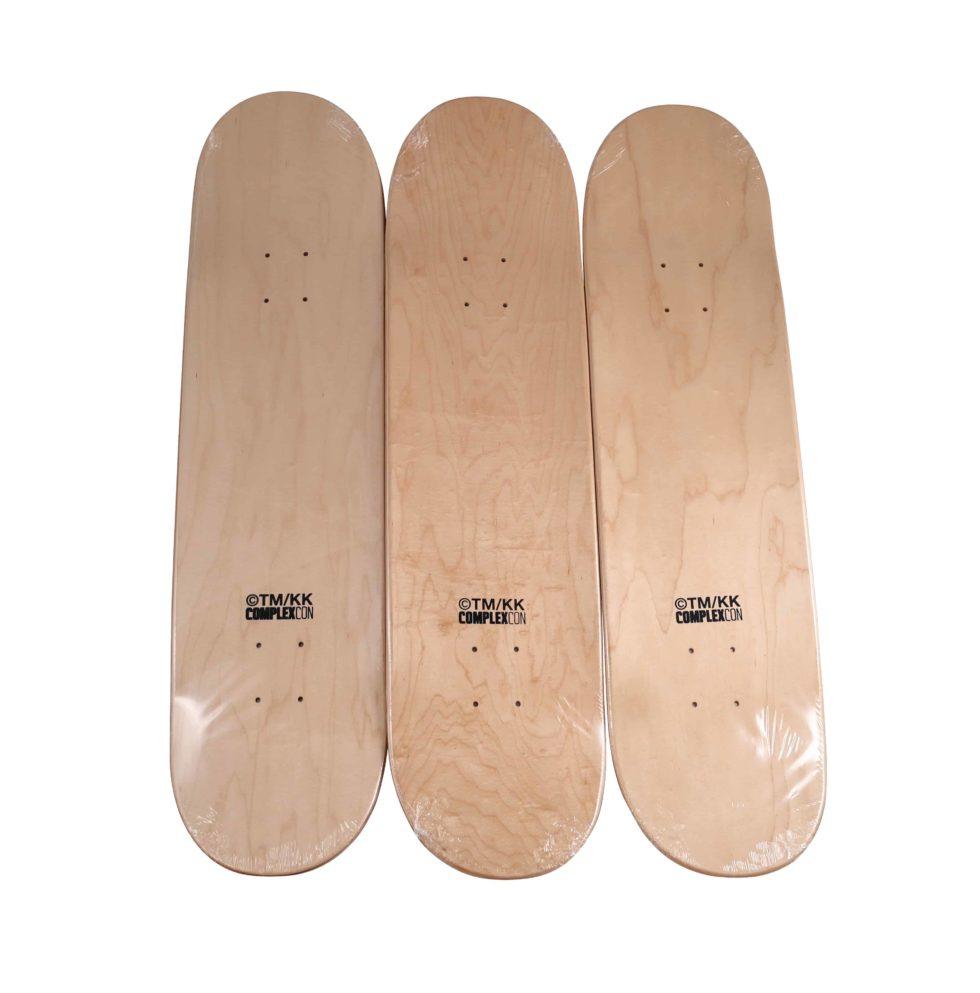 Lot #8611 – Takashi Murakami Flying DOB Grey Skateboard Deck Set Skateboard Decks Takashi Murakami