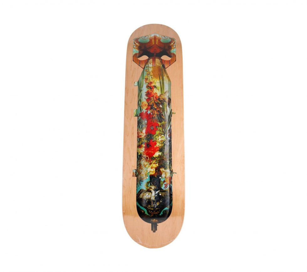 Lot #7120 – Magnus Gjoen Flowerbomb Skateboard Deck Skateboard Decks Magnus Gjoen