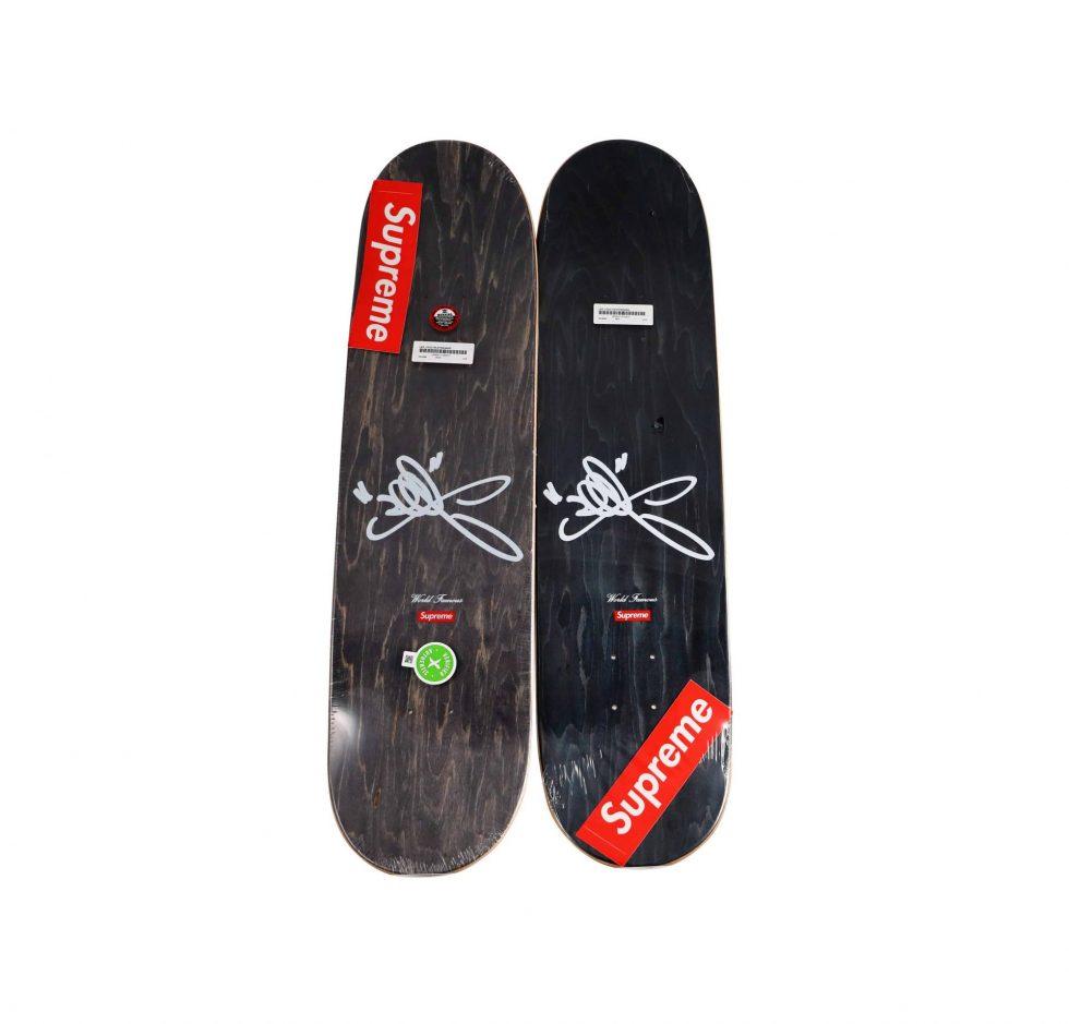 Lot #7107 – Lee Quinones x Supreme NYC Subway Graffiti Skateboard Deck Set of 2 Skateboard Decks Lee Quinones