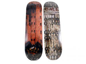 Lot #7250 – Martin Wong x Supreme Big Heat & Iglesia Pentecostal Skateboard Deck Set Skateboard Decks Martin Wong