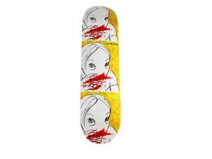 Lot #7254 – Rita Ackermann x Supreme Nose Bleed Skateboard Deck Skateboard Decks Rita Ackermann x Supreme